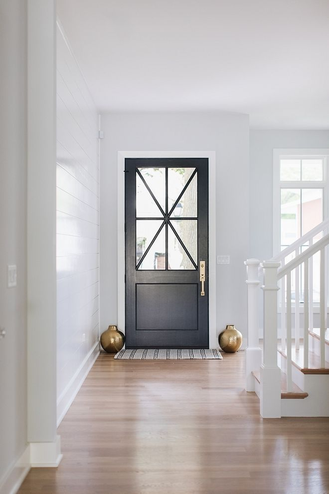 All Doors On The First Floor Are Painted In Benjamin Moore Wrought