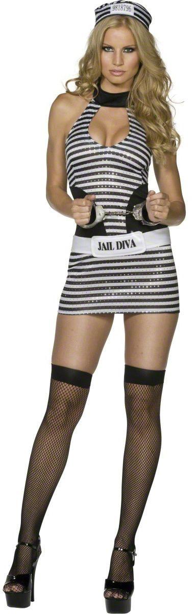 Sexy gevangene outfit voor dames : Vegaoo Volwassenen Kostuums