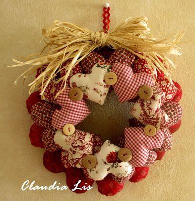 ♥ Corona de Navidad: Patrones de regalo