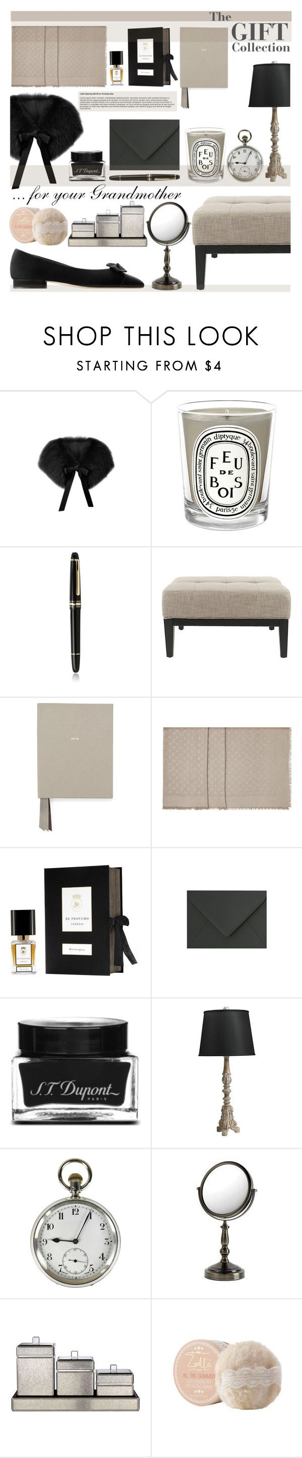 """""""The Christmas Gift Collection - for your Grandmother. (GiftGuide Part IX)"""" by sophie-martina ❤ liked on Polyvore featuring interior, interiors, interior design, home, home decor, interior decorating, Elie Saab, Chanel, Diptyque and Montblanc"""