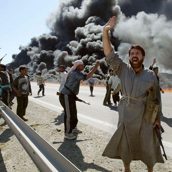 Infográfico sobre a guerra do Iraque. Postado por Marcos