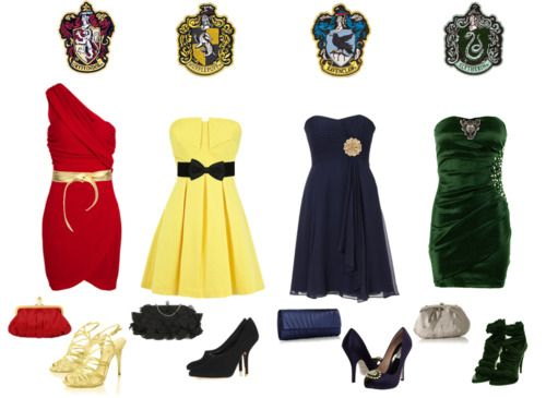 Slytherin dress with Ravenclaw shoes and Gryffindor clutch thank you very much.