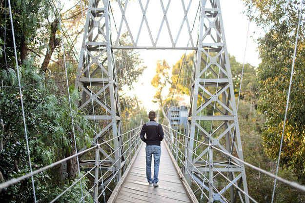 15. Conquer your fears on a suspension bridge.