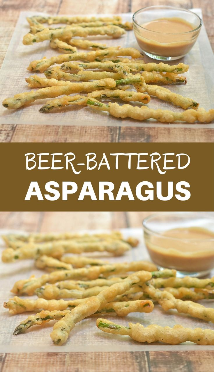 Beer-Battered Asparagus are coated in a beer batter and deep fried until golden and delicious. Served with campfire sauce, they're seriously addicting!