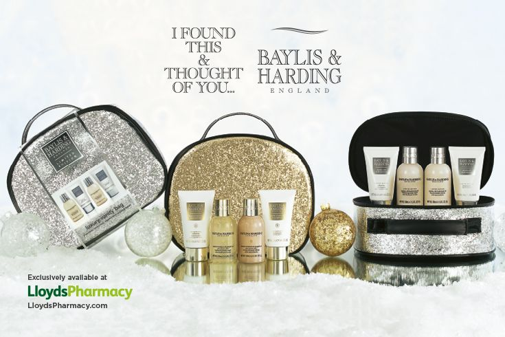 As seen in all the best places, including Hello! magazine, we love opening up these beautiful gift bags full of delightful scents that your family and friends would love. Find them today at Lloyds: http://www.baylisandharding.com/lloyds