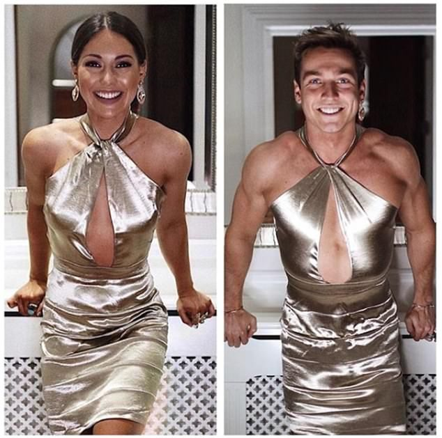 Sam Thompson takes to Instagram AGAIN to mock his sister  Sam Thompson proved he was up to his old tricks again as he shared another hilarious snap on Saturday.  Its been a while since the playful Made in Chelsea star has mocked his sister Louise 27 on his Instagram page but a leopard never changes his spots.  This time the 25-year-old donned a dazzling mini-dress belonging to Louise to poke fun at her on social media.  Scroll down for video  Going for gold: Sam Thompson took to Instagram to…