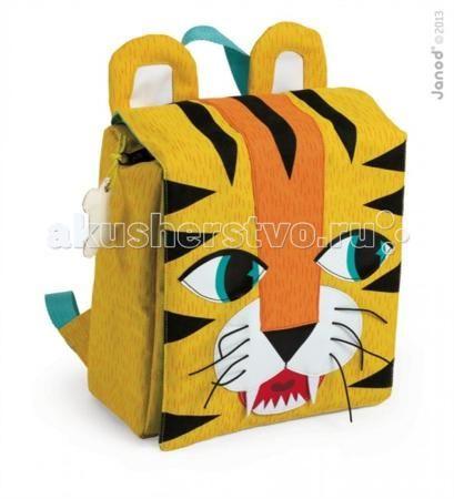 Janod Рюкзак Тигр  — 3069р. ------------------------------------  Janod Портфель-рюкзак Тигр.  Яркий и компактный рюкзак, который можно взять с собой на прогулку, в музей или кино, а также в качестве ручной клади в путешествие. Не смотря на небольшой размер, в рюкзак легко поместится все самое необходимое: телефон, ключи, любимая игрушка, напиток и большое яблоко. Помимо функциональности, у этого рюкзака есть настроение, индивидуальность и яркое, привлекательное лицо. Ну, или мордочка — это…