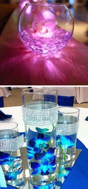 Waterproof Wedding Underwater LED Lights   Easy Wedding Decorations Dollar Stores   Elegant Wedding Decor Ideas on a Budget