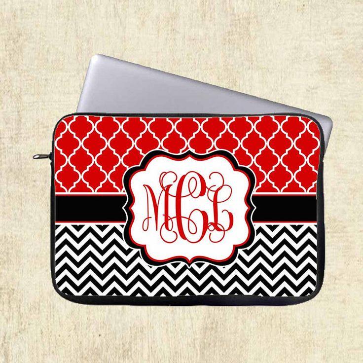 Personnalisé Laptop Sleeve monogramme Laptop par mylittlecase