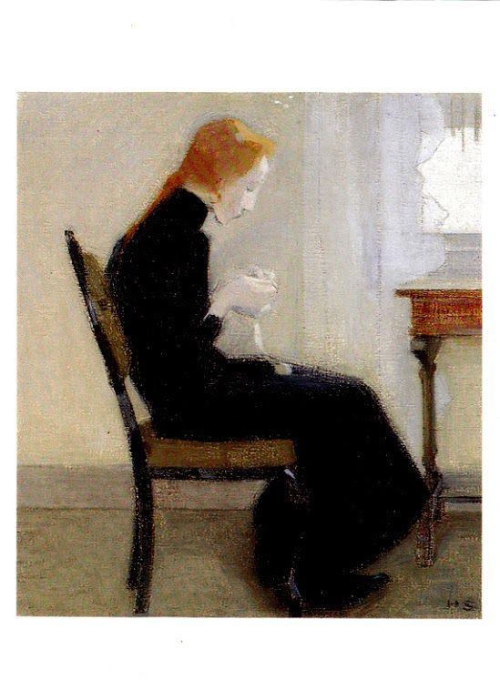 Kuva albumissa HELENE SCHJERFBECK - Google Kuvat. Virkkaava tyttö 1904.  Sampo-yhtiöiden kokoelmat.  Foto: Seppo Hilpo,  N:o  63.