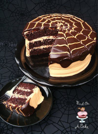 Chocolate Orange Cake with Orange Cream Cheese Frosting and Whipped Chocolate Ganache by Bird On A Cake