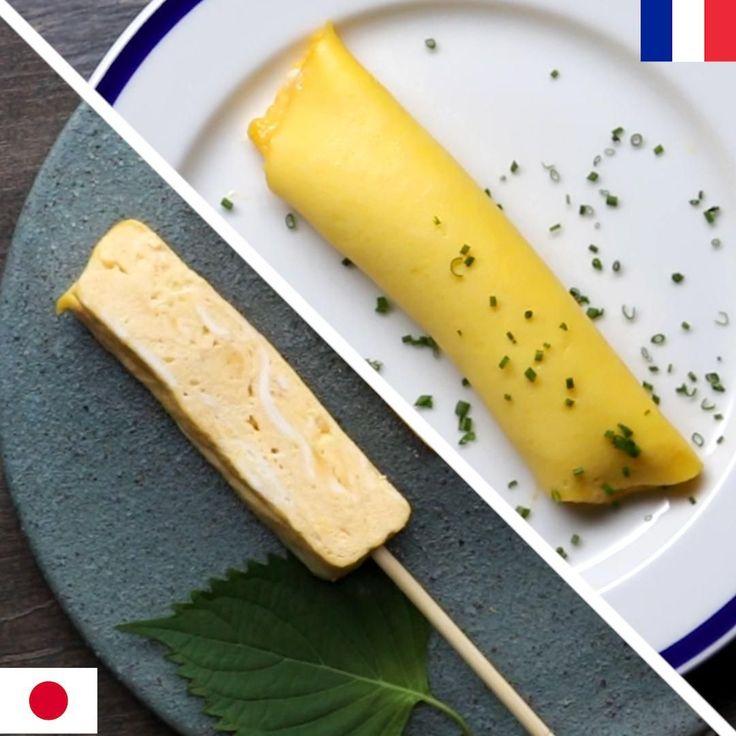 French Omelette Vs. Japanese Omelette by Tasty