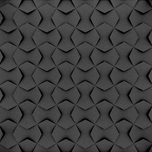 Fluffo, Fabryka Miękkich Ścian. Miękkie panele ścienne 3D, wzór NEXUS, opcje ułożenia.