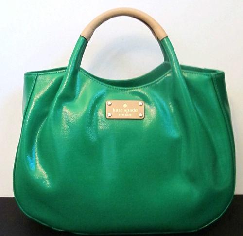 New Kate Spade Fulton Street Treesh Pine Green Wkru1705 Handbag Purse Tote Ebay