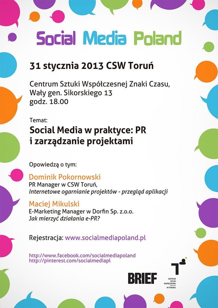 Już jutro kolejny meetup w Toruniu! Zapraszamy na 18:00 do CSW Toruń - patronat nad naszym wydarzeniem objął Magazyn Brief!