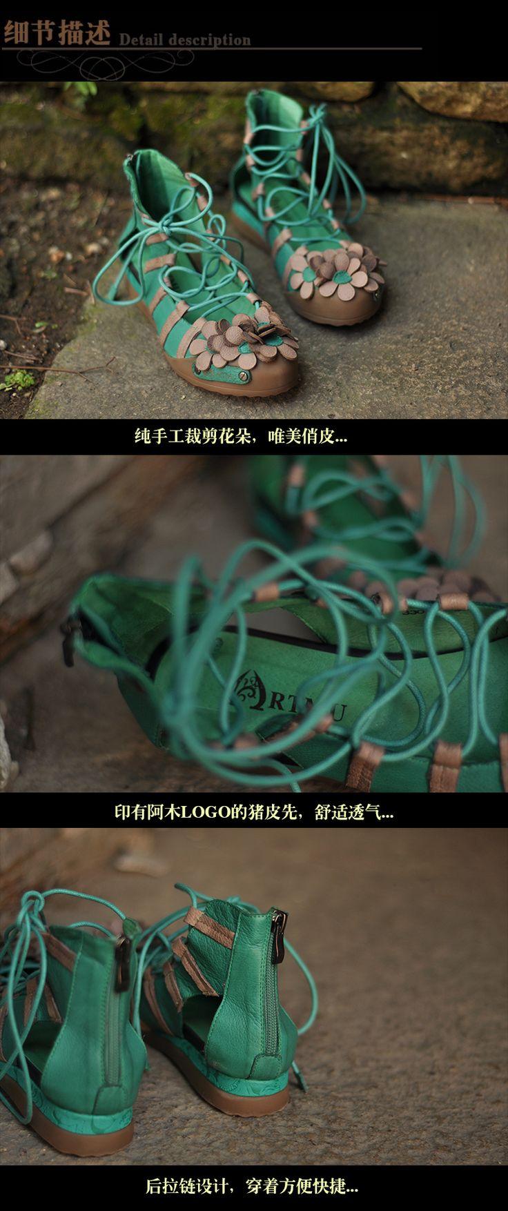 Бренд ручной работы сладкий цветы удобные натуральная кожа обувь женщина сандалии женщины купить на AliExpress