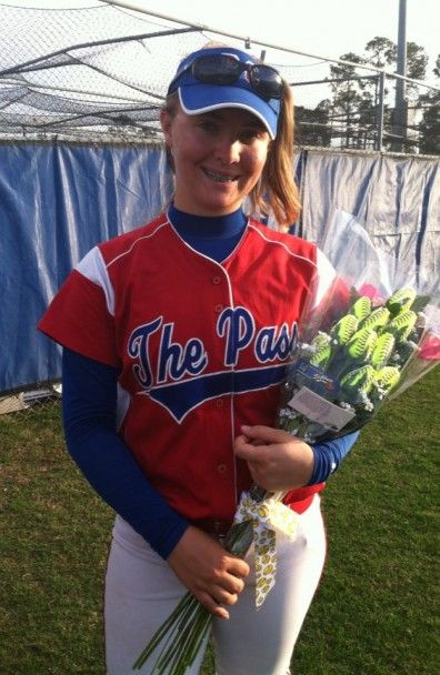 Pass Christian Pirates Softball Senior Night  This is my daughter. Her dad and I gave her these Softball Roses for her senior night in Pass Christian, MS as a Lady Pirate. We definitely hit it out of the park on this one! She was so happy to have them on her last night on the field. She will treasure these roses for a long time to come. Thank You Softball rose for making my daughters night spectacular!!!!!