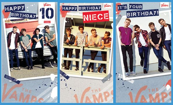 New Official the Vamps Birthday Cards now available at https://www.danilo.com/Shop/Cards-and-Wrap/The-Vamps-Cards/