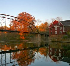 War Eagle Mill, Rogers, Arkansas in the Fall; built in 1832, it's still a working mill and restaurant.