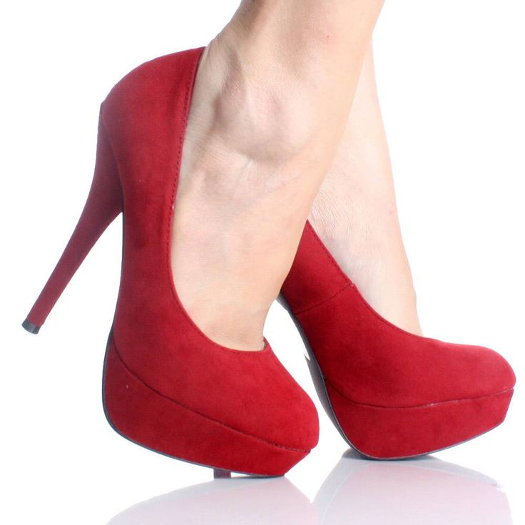 Red Velvet Closed Toe Platform Stiletto High Heel Pump Womens ...