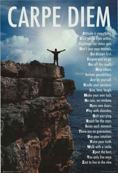 Carpe Diem A to Z Wisdom Inspiration Poster 24x36 – BananaRoad