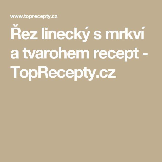 Řez linecký s mrkví a tvarohem recept - TopRecepty.cz