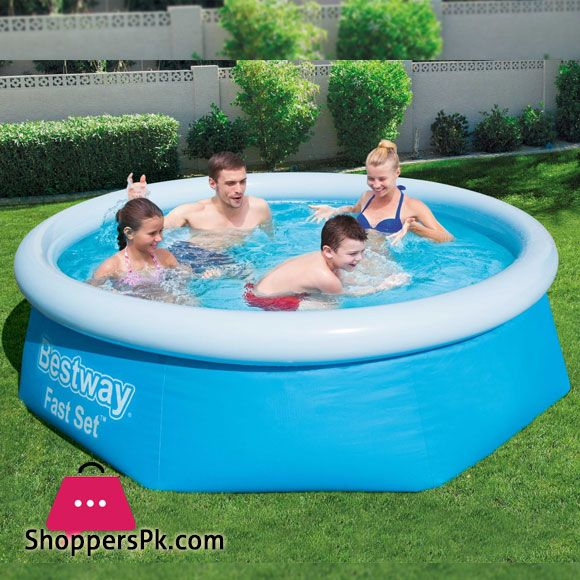Buy Bestway Fast Set Family Swimming Pool 8 Feet X 26 Inch 57265 At Best Price In Pakistan Bestway Above Ground Swimming Pools Pool