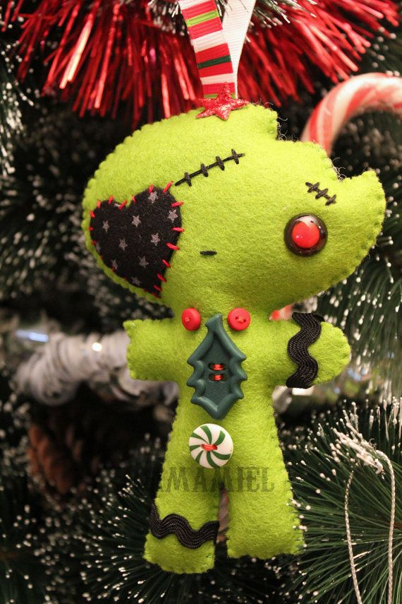 Ornament pirate heart zombie boy gingerbread by camamiel on Etsy, $19.00