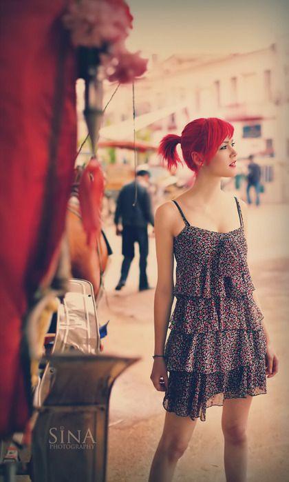 coitada da hayley, dress, fashion, girl, morra poser, red hair