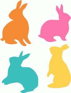 View Design Assorted Easter Bunnies Silhouette