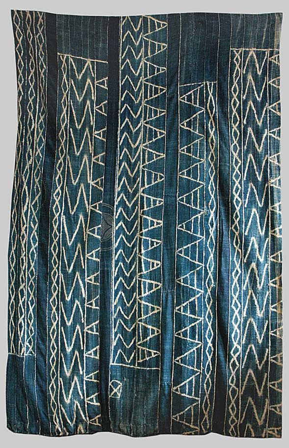 // Indigo stitched, paste resist known in the Cameroon as Ndop: Patterns Design, Africans Textiles, Pillows Patterns, Rare Textiles, Fabrics, Shower Curtains, Rugs, Fiber Art, Indigo Stitches