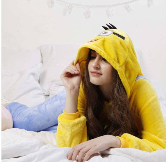Stop chasing bananas and take some rest in this super comfy Minion Onesie.