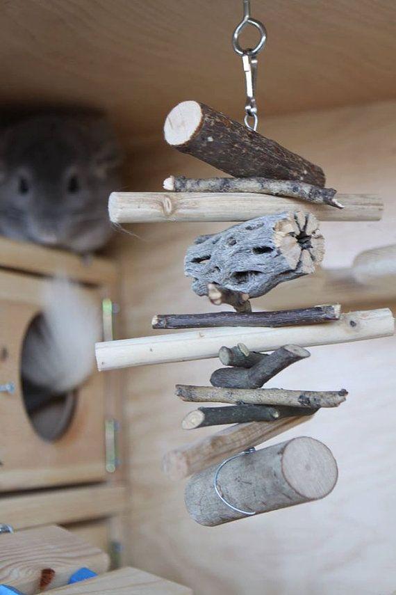 Hotelgelände Chinchilla Spielzeug wird jede Chinchilla glücklich machen! Das Spielzeug besteht aus leckeren Apfelholz, Pecan Holz, Weidenholz, Kiefernholz & Cholla. Dieses Spielzeug ist mit Chinchillas speziell im Geist - das Kauen Spielzeug auf verzinktem Stahldraht gemacht, und alle kaut