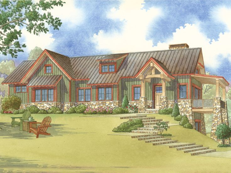 145 best mountain house plans images on pinterest - Mountain home plans with walkout basement ...