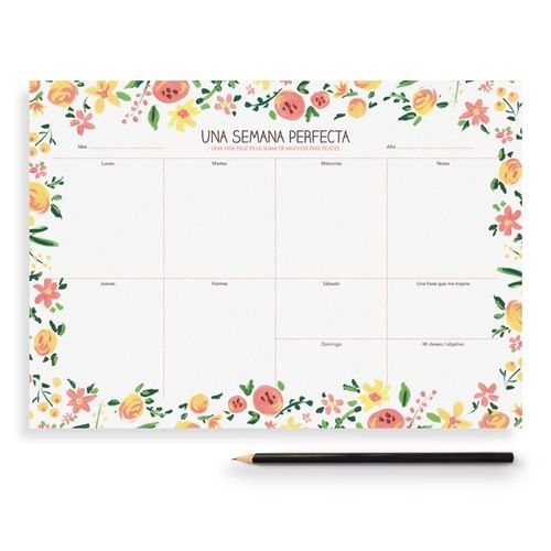 This Charuca's Weekly Planner fills your days with spring and flowers.