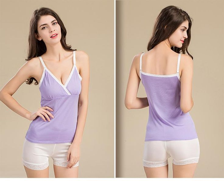 Silk Sanctum 100% Pure Silk Women's Camisole Femme Slim V-Neck X Sexy Sleeveless Women Lace Basic Sweetheart Casual Female Halter Tops Purple