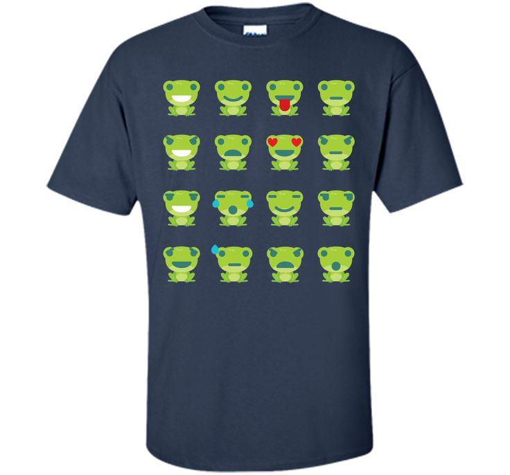 Frog Emoji 16 Different Facial Expressions T-Shirt