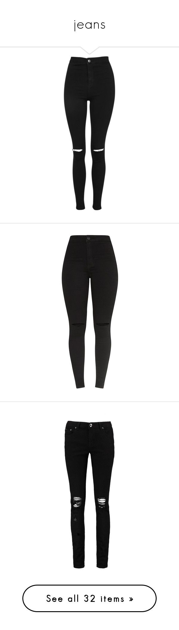"""jeans"" by li-gasparyan-m on Polyvore featuring jeans, pants, bottoms, calças, black, high rise skinny jeans, distressed jeans, stretch skinny jeans, high waisted ripped skinny jeans и ripped jeans"