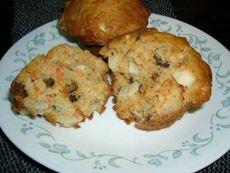 Muffins aux carottes, pommes et raisins