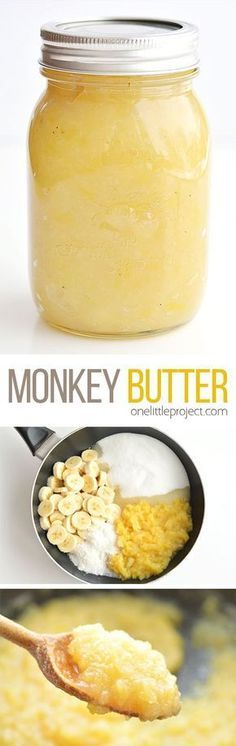 This monkey butter is SO GOOD!! I was eating it by the spoonful. It tastes amazing on ice cream, or you can serve it with pancakes, waffles or even spread it on toast or english muffins. Yum!