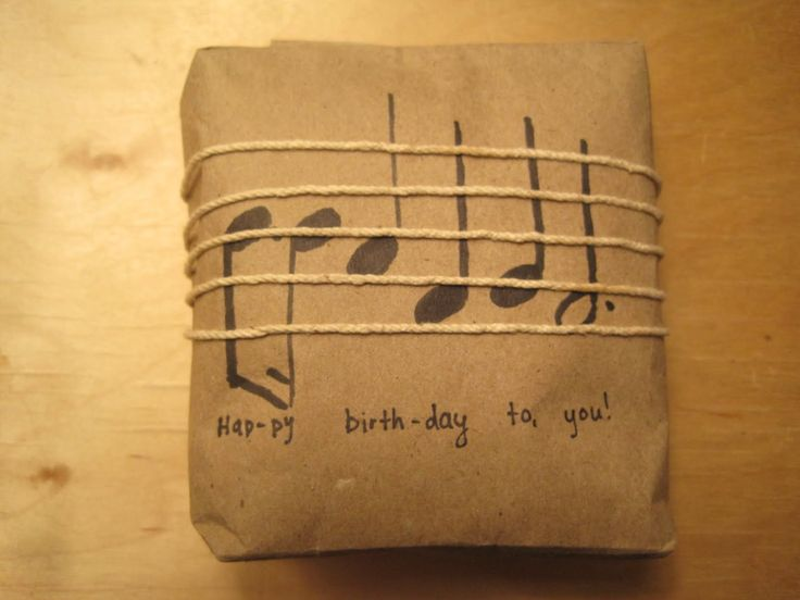 This is brilliant! adorable notes and string happy birthday music gift wrapping.