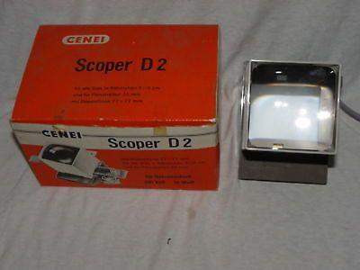 CENEI SCOPER D2 MIT DOPPELLINSE 77x77mm + OVP