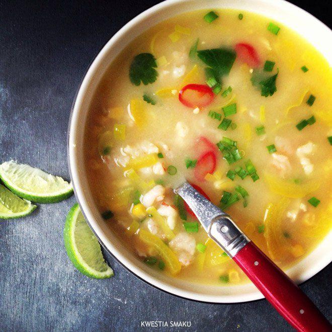 Luizjańska zupa z krewetkami i kukurydzą