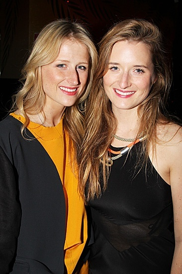 Sisters! (Mamie Gummer and Grace Gummer on the opening night The Columnist, in which Grace appears.)