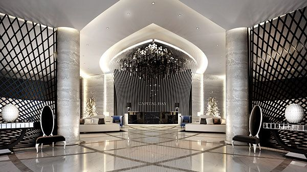 Main Lobby Interior Design on Behance
