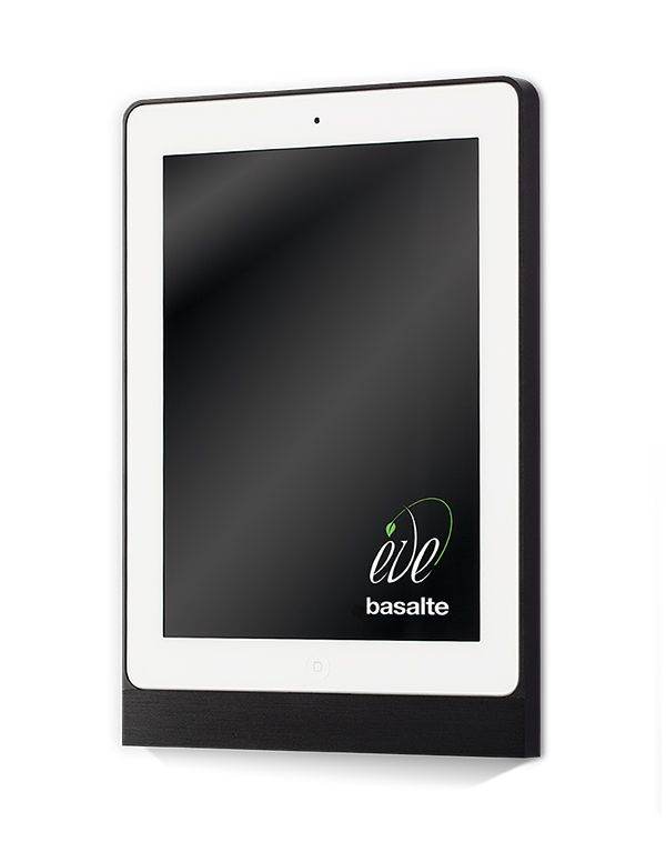 iPad + ramka Eve, panel doskonały. W ramce Eve Twój iPad będzie zawsze na  swoim miejscu, gdyż montuje się ją na stałe. Inteligentny dom z panelem sterowania od basalte to niepowtarzalny design oraz funkcjonalność.