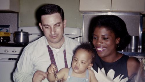 The Jeffersons actress Roxie Roker and her then husband, NBC News producer Sy Kravitz, with their son Lenny Kravitz. the couple were married...