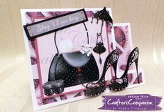 Side Stepper Card using Crafter's Companion Catitudes CD & Dies. Designed by Angela Clerehugh #crafterscompanion