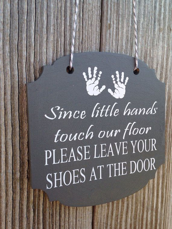 Since Little hands touch our floor  Front Door by VinylElegance, $10.00