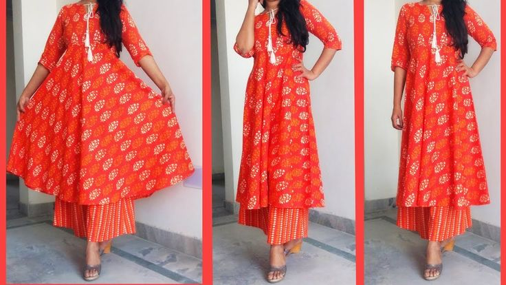 DIY Designer Kurti | How to make Designer Kurti from Printed Fabric | Sewing Tutorial - YouTube